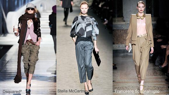Женские брюки на осень - зиму 2010 года