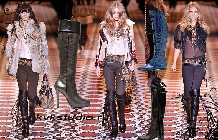 Модная обувь осень зима 2008 2009 мода