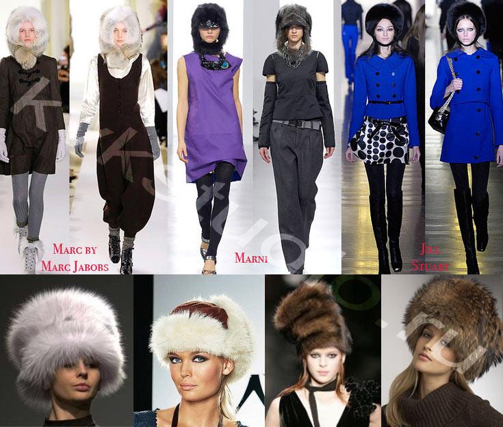 Выкройки женских меховых шапок.